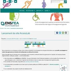 Access LabLancement du site AccessLab - Access Lab
