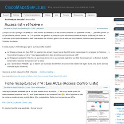 access-list - CiscoMadeSimple.be