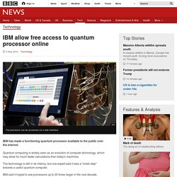IBM allow free access to quantum processor online