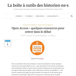 Open Access - quelques ressources pour entrer dans le débat