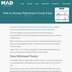 How to Access Retirement Funds Early