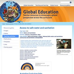 Access to safe water and sanitation