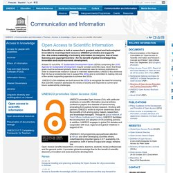 Open access to scientific information