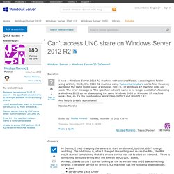 Can't access UNC share on Windows Server 2012 R2