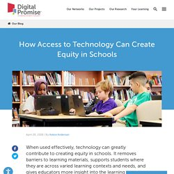 How Access to Technology Can Create Equity in Schools