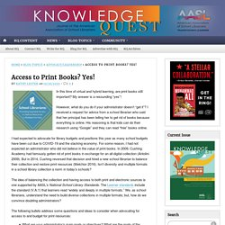 Access to Print Books? Yes!