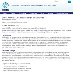 Equal Access: Universal Design of Libraries