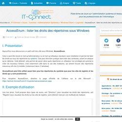 AccessEnum : lister les droits des répertoires sous Windows