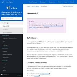 Linee guida di design per i servizi web della PA