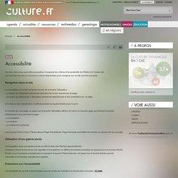 Culture.fr : Accessibilité