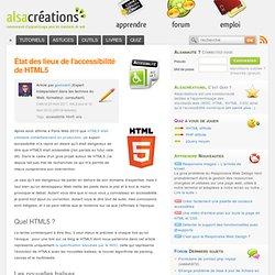 État des lieux de l'accessibilité de HTML5