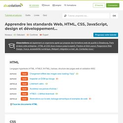 Tutoriels HTML5, CSS3, Accessibilité, JavaScript, AJAX, jQuery
