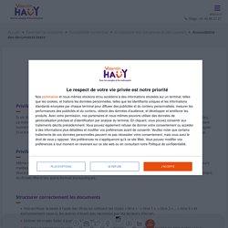 Accessibilité des documents texte