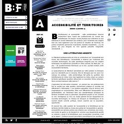 Accessibilité et territoires (BBF)