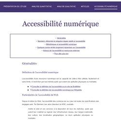 L'étude : Accessibilité numérique des portails de bibliothèque