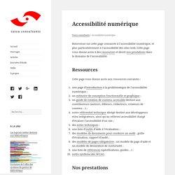 Accessibilité numérique – Tosca consultants
