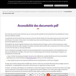 Accessibilité des documents pdf