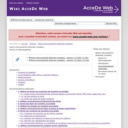 Notice d'accessibilité éditoriale (modèle) [AcceDe Web]