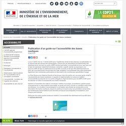 Publication d'un guide sur l'accessibilité des bases nautiques - Ministère de l'Environnement, de l'Energie et de la Mer