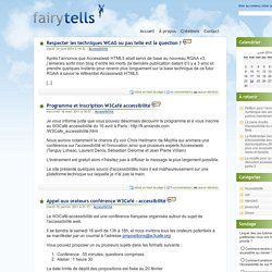 Accessibilit? num?rique, CSS et standards du web - Fairytells