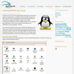 L'accessibilité sur Linux