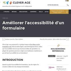 Améliorer l'accessibilité d'un formulaire - Le blog de Clever Age