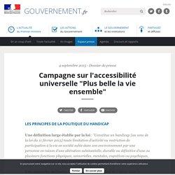 """Campagne sur l'accessibilité universelle """"Plus belle la vie ensemble"""""""