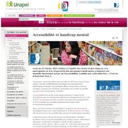 L'accessibilité - Accessibilité et handicap mental