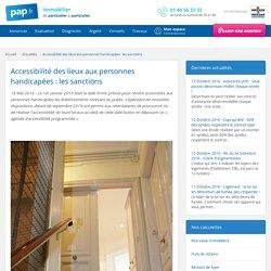 Accessibilité des lieux aux personnes handicapées : les sanctions