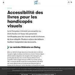 Accessibilité des livres pour les handicapés visuels