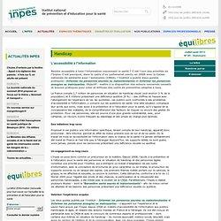 Equilibres numéro 95 - Handicap - L'accessibilité à l'information