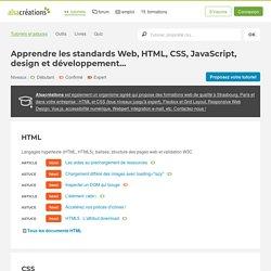 Tutoriels HTML5, CSS3, Accessibilité, JavaScript, AJAX, jQuery