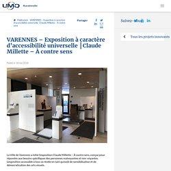 VARENNES - Exposition à caractère d'accessibilité universelle │Claude Millette - À contre sens - Union des municipalités du Québec