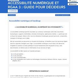 Accessibilité numérique et handicap - Guide pour décideurs