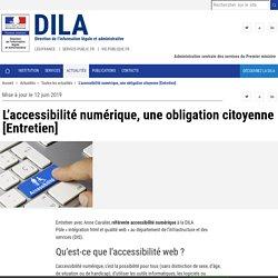L'accessibilité numérique, une obligation citoyenne [Entretien] - DILA