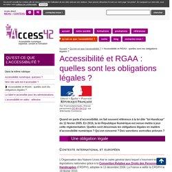 Accessibilité et RGAA : quelles sont les obligations (...) - Access42