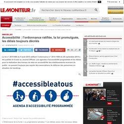 Accessibilité : l'ordonnance ratifiée, la loi promulguée, les délais toujours décriés - Immobilier