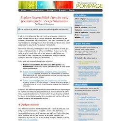 valuer l'accessibilité d'un site web, première partie : Les préliminaires