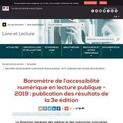 Baromètre de l'accessibilité numérique en lecture publique - 2019 : publication des résultats de la 3e édition