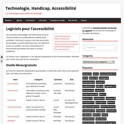 Technologie, Handicap, Accessibilité