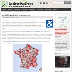 Accessibilité: visualisation sur overpass-turbo