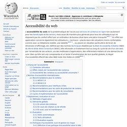 Accessibilité du Web