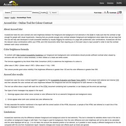 Web Accessibility: AccessColor Tool- free online color contrast analyser for accessible web pages -