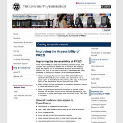 Improving the Accessibility of PREZI