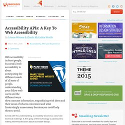 Accessibility APIs: A Key To Web Accessibility