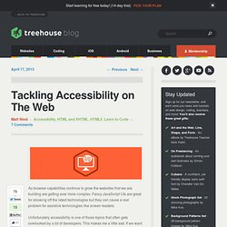 Tackling Accessibility on The Web