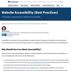 16 Things to Improve Your Website Accessibility (Checklist)
