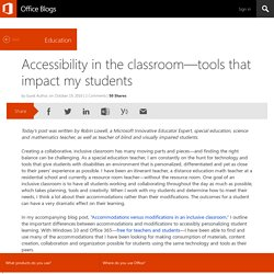 Accessibility in the classroom—tools that impact my students