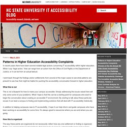 Patterns in Higher Education Accessibility Complaints