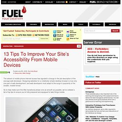 13 Tips To Improve Your Site's Accessibility From Mobile Devices